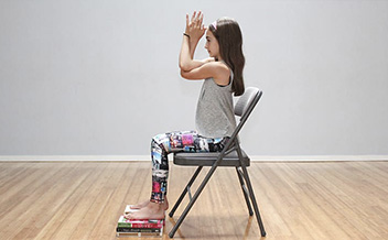 childrens yoga with chair