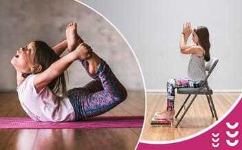 Йога для детей 7-10 лет + детская йога на стуле